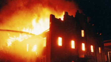 nixon_hall_burning